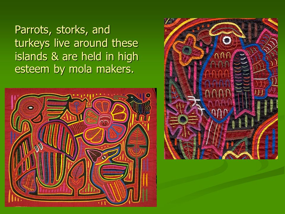 Typical Mola Motifs: Geometric Geometric Mythological / biblical Mythological / biblical Animals or marine life Animals or marine life Dominant Mola Colors: Red or Orange, & Black Dominant Mola Colors: Red or Orange, & Black 14 14 Inspired by the things they see in their everyday lives.