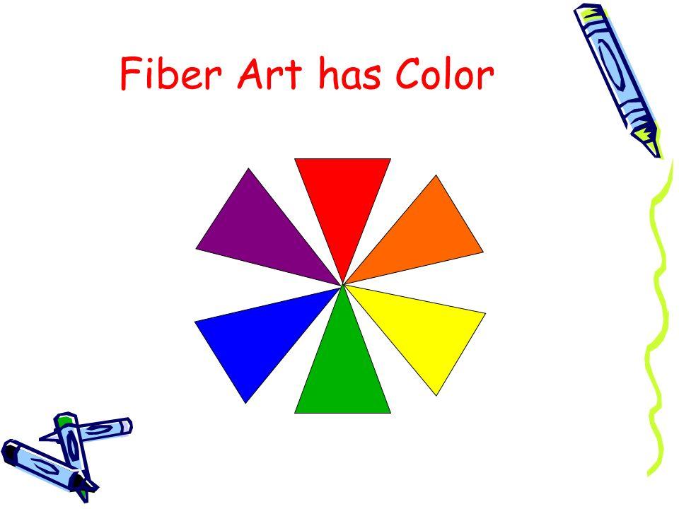 Fiber Art has Color