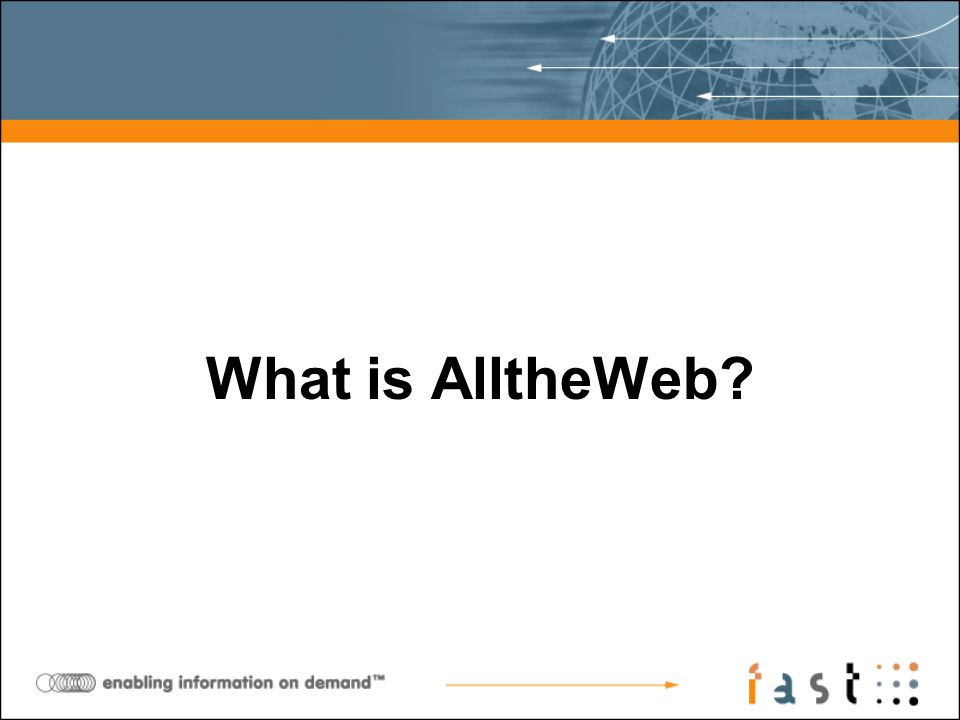 What is AlltheWeb?