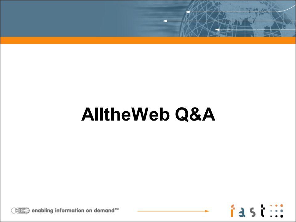 AlltheWeb Q&A