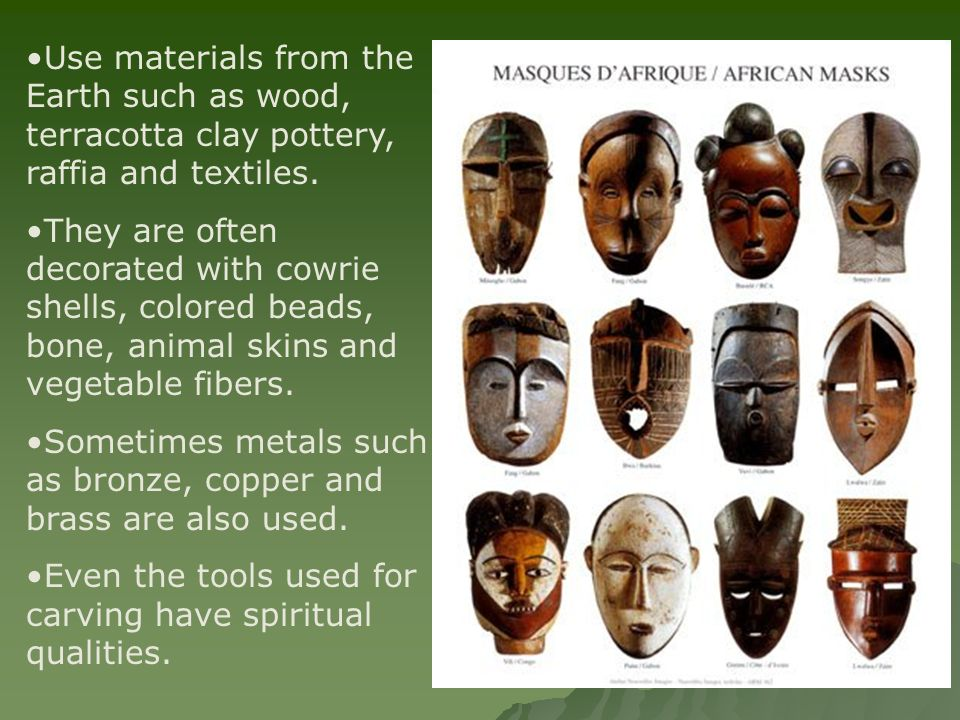 Use materials from the Earth such as wood, terracotta clay pottery, raffia and textiles.