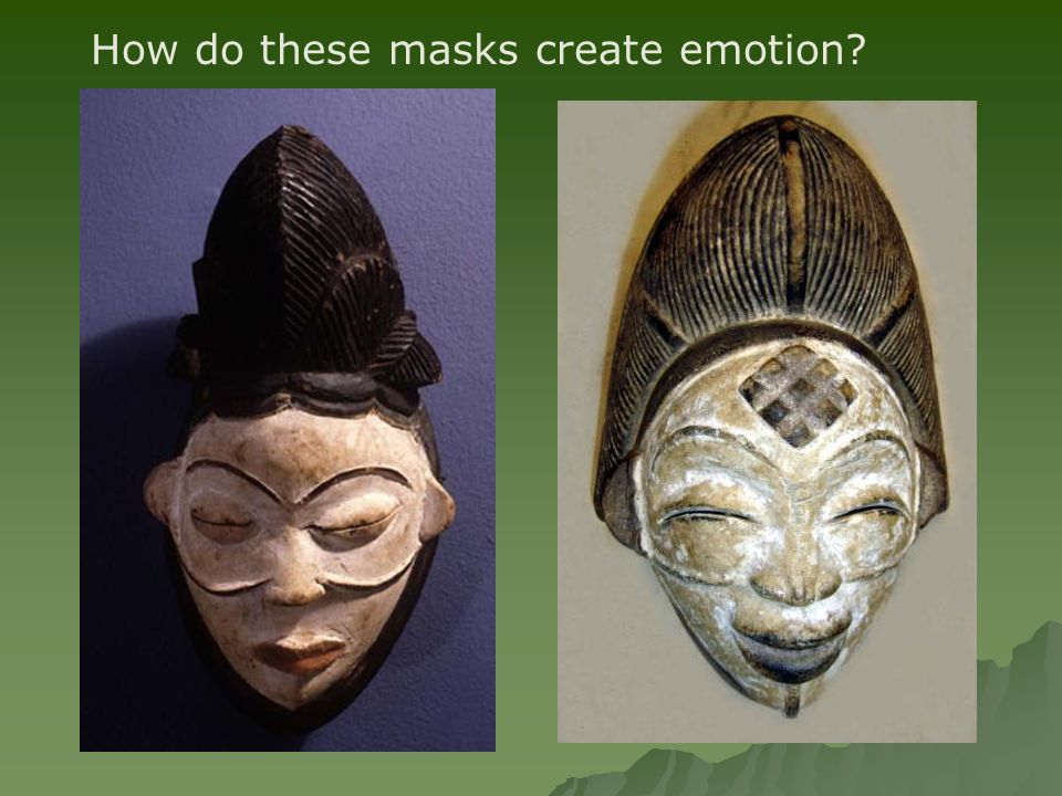 How do these masks create emotion