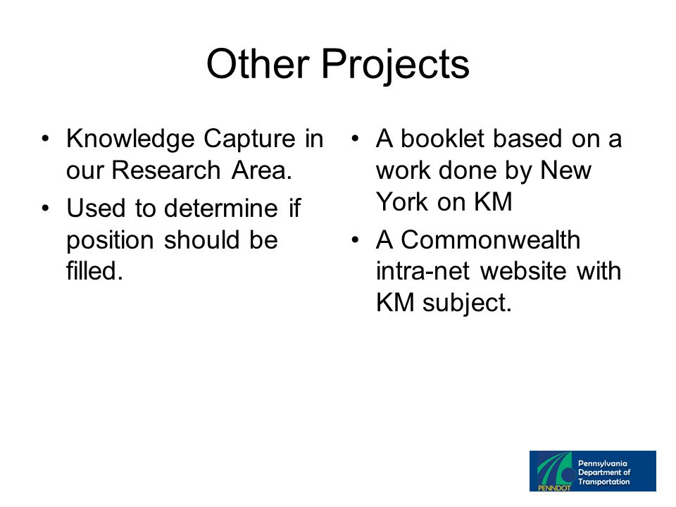 Other Projects Knowledge Capture in our Research Area.