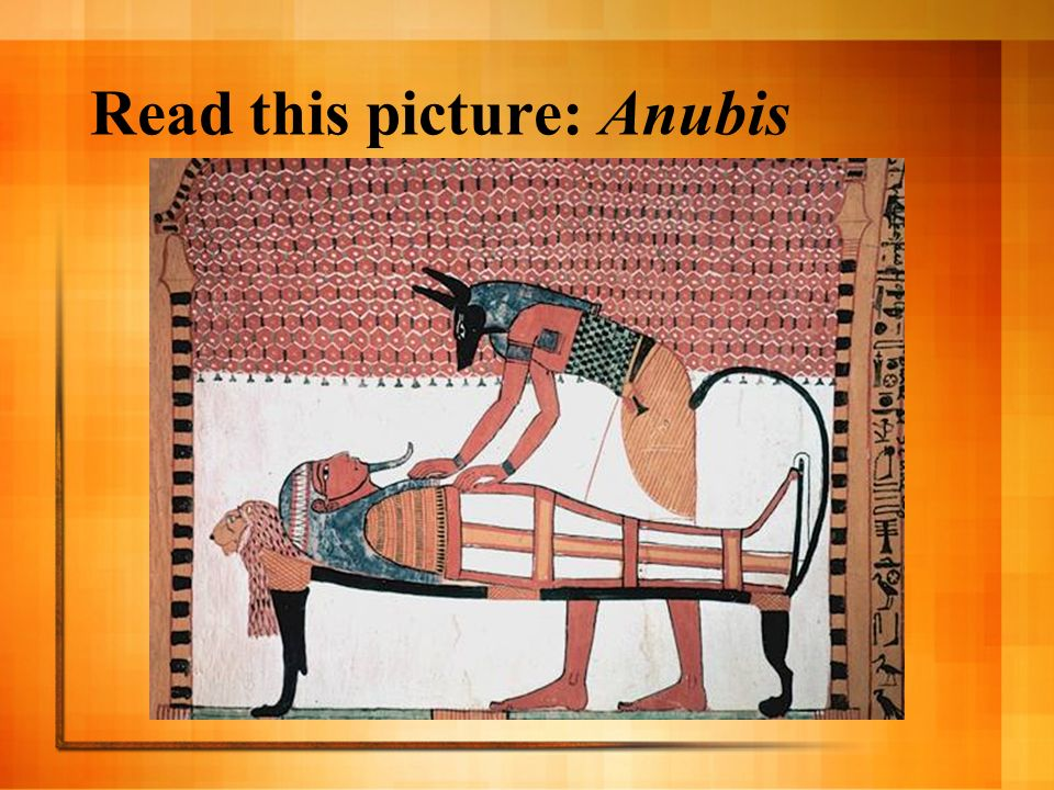 Read this picture: Anubis