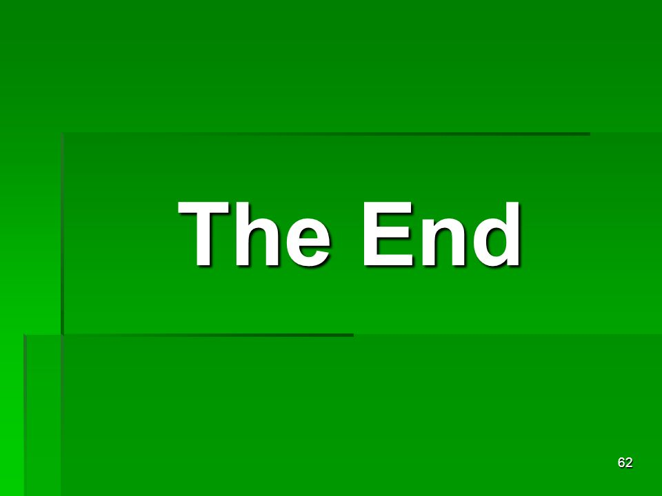 The End 62