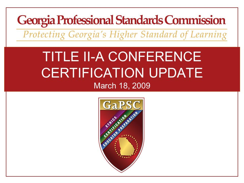 PROPOSED CHANGES IN 2009 ENHANCED CERTIFICATE DESIGN STRUCTURE