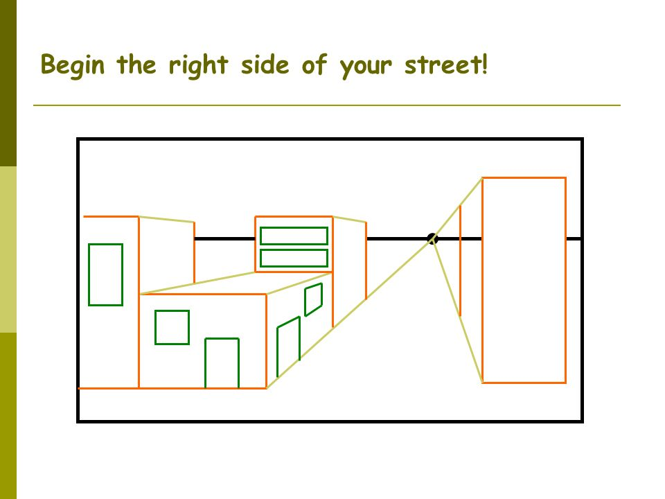 Begin the right side of your street!