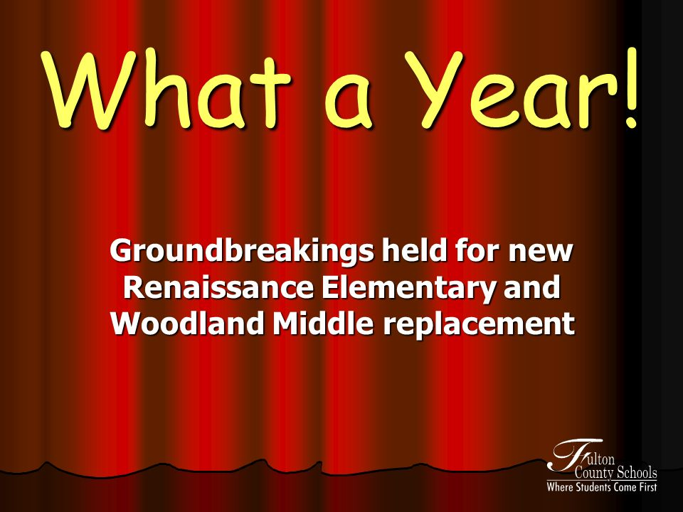 What a Year! Groundbreakings held for new Renaissance Elementary and Woodland Middle replacement
