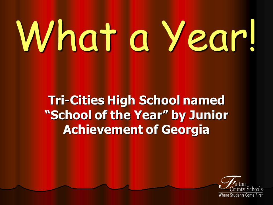 What a Year! Tri-Cities High School named School of the Year by Junior Achievement of Georgia
