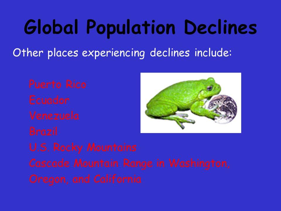 Global Population Declines Monteverde, Costa Rica: Golden Toad last seen 1988