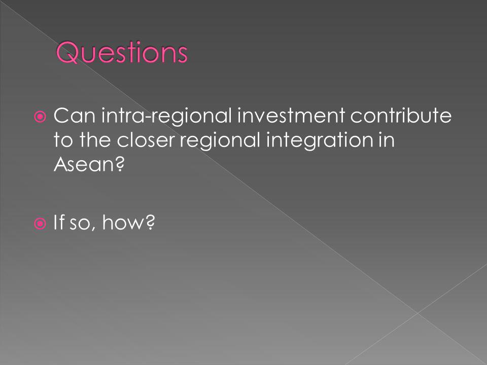 Can intra-regional investment contribute to the closer regional integration in Asean If so, how
