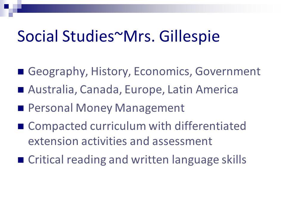 Social Studies~Mrs.