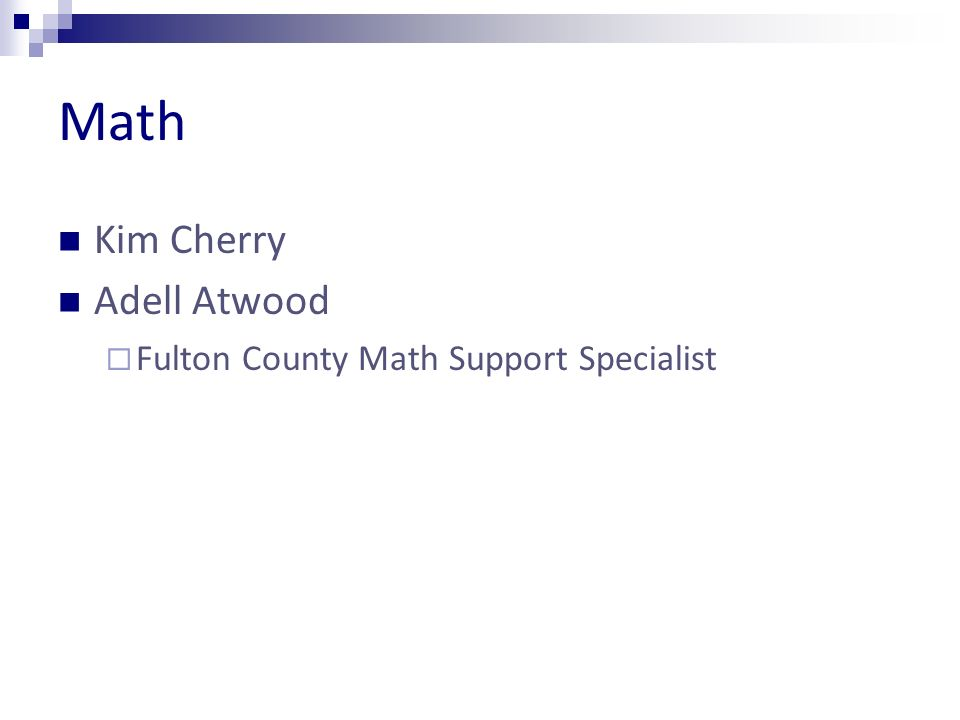 Math Kim Cherry Adell Atwood Fulton County Math Support Specialist