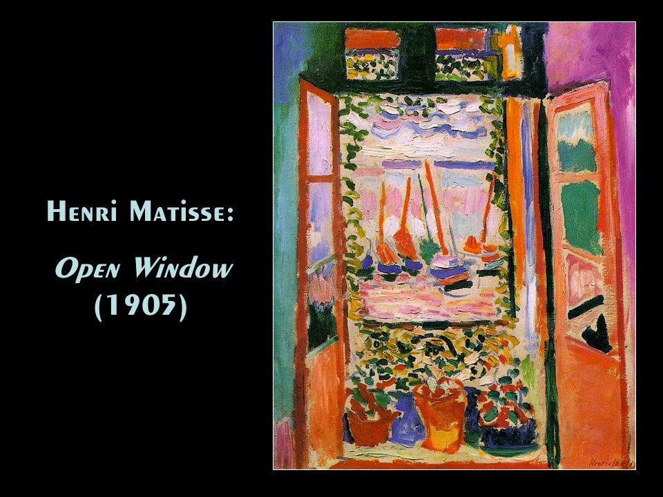Henri Matisse: Open Window (1905) Henri Matisse: Open Window (1905)