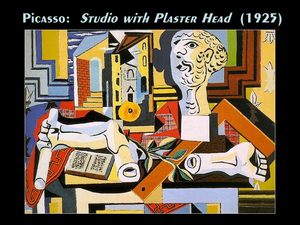 Picasso: Studio with Plaster Head (1925)