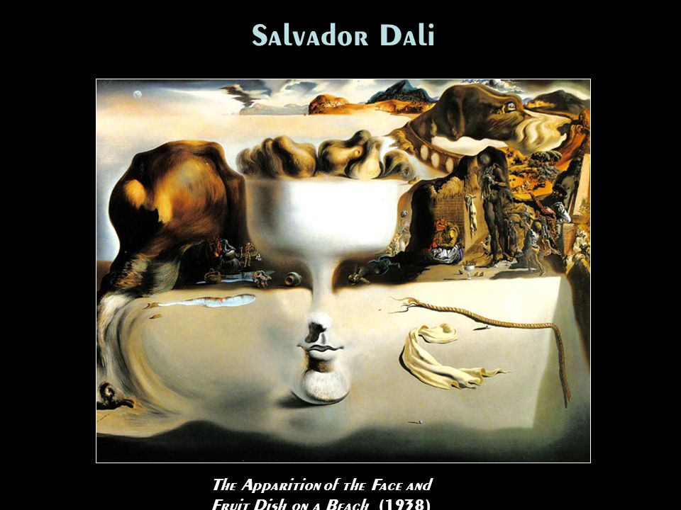 Salvador Dali The Apparition of the Face and Fruit Dish on a Beach (1938)