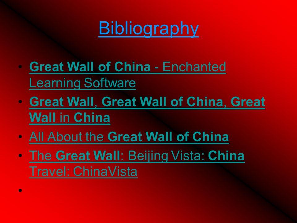 Bibliography Great Wall of China - Enchanted Learning Software Great Wall, Great Wall of China, Great Wall in China All About the Great Wall of China The Great Wall: Beijing Vista: China Travel: ChinaVista