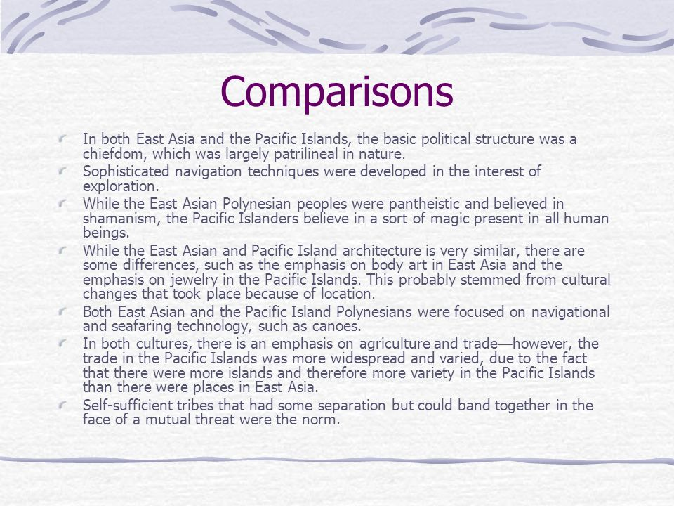 Change over Time Travel around Polynesia and South Asia required great skill with maritime technology.