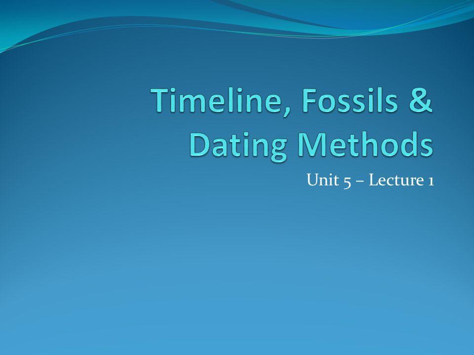 Unit 5 – Lecture 1