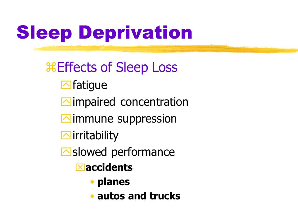 Typical Nightly Sleep Stages Sleep stages Awake Hours of sleep REM