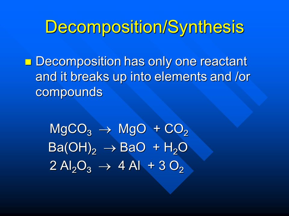 Combustion Reaction of a compound with oxygen gas to produce oxides of all elements in the compound Reaction of a compound with oxygen gas to produce