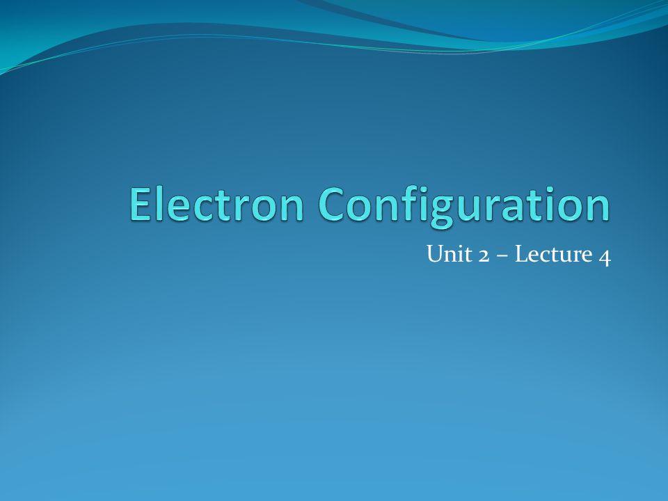 Unit 2 – Lecture 4