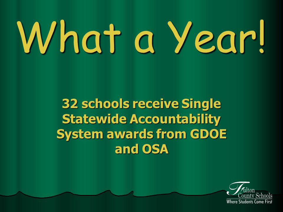What a Year! 32 schools receive Single Statewide Accountability System awards from GDOE and OSA