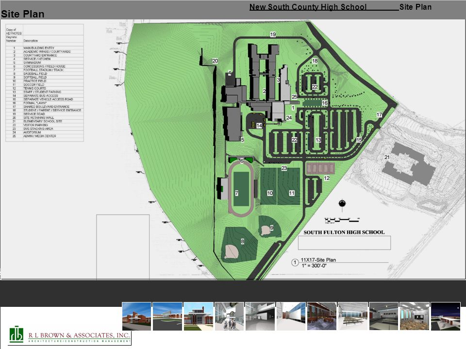 New South County High School Site Plan Site Plan