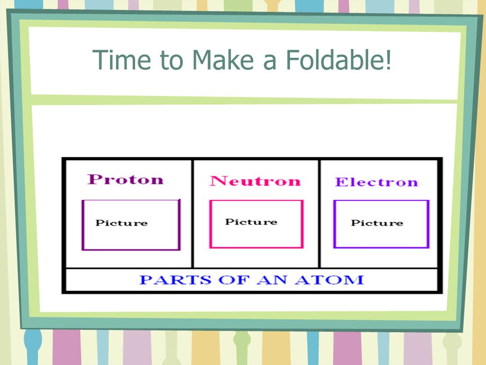 Time to Make a Foldable!