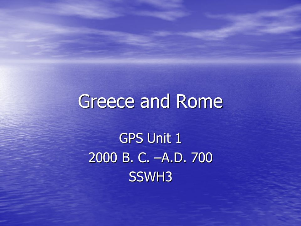 I.Government in Greece A. Political Units: 1.