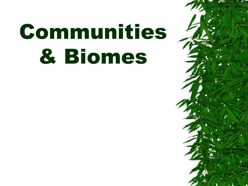 Communities & Biomes