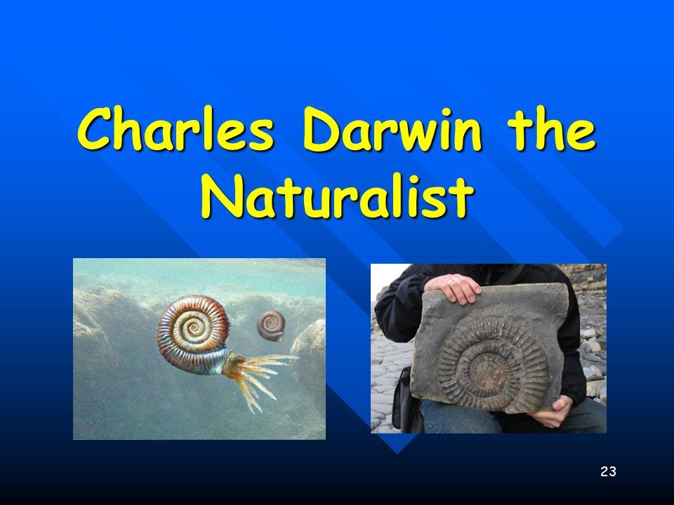 23 Charles Darwin the Naturalist