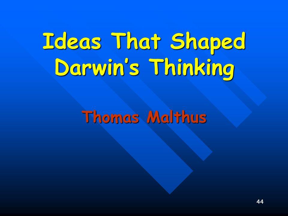 44 Ideas That Shaped Darwins Thinking Thomas Malthus
