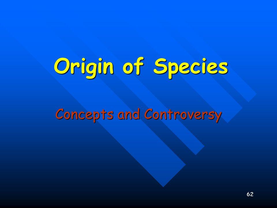 62 Origin of Species Concepts and Controversy