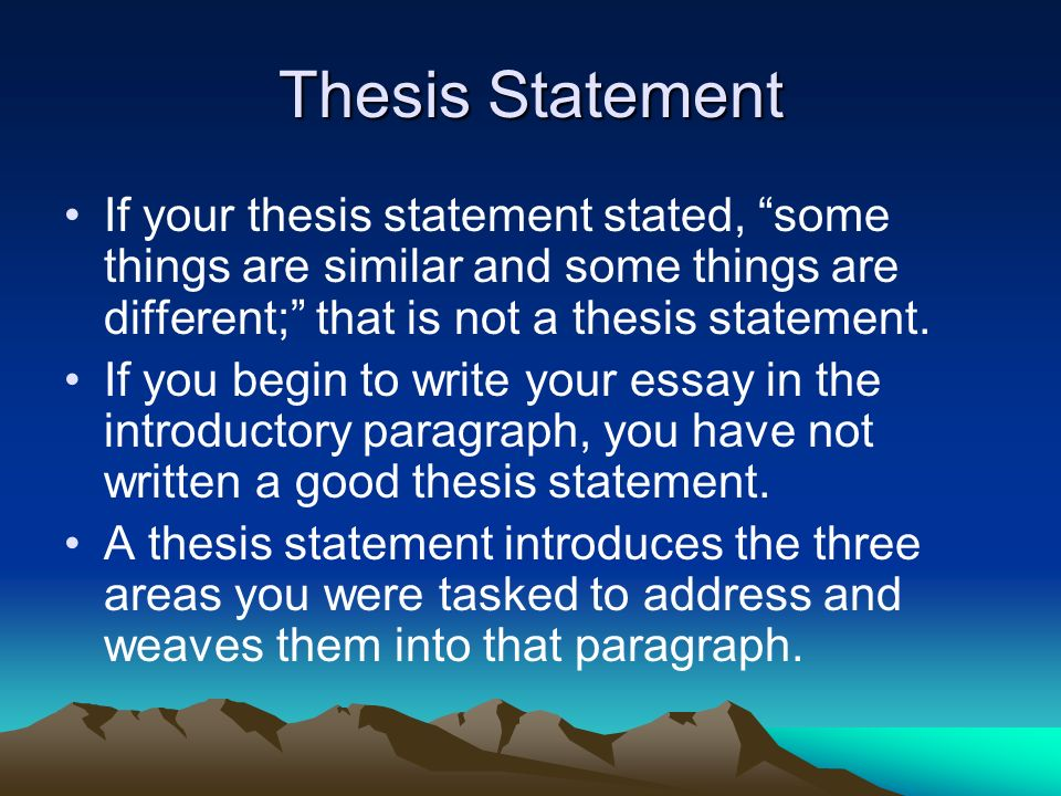 what is a good thesis statement for belief systems