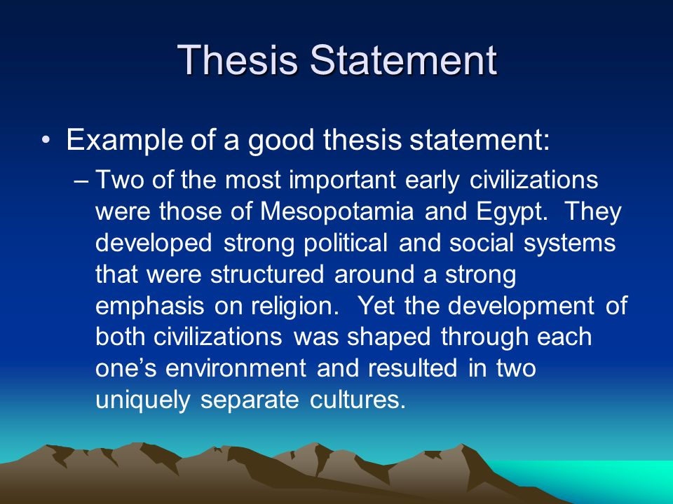 Format for thesis statement