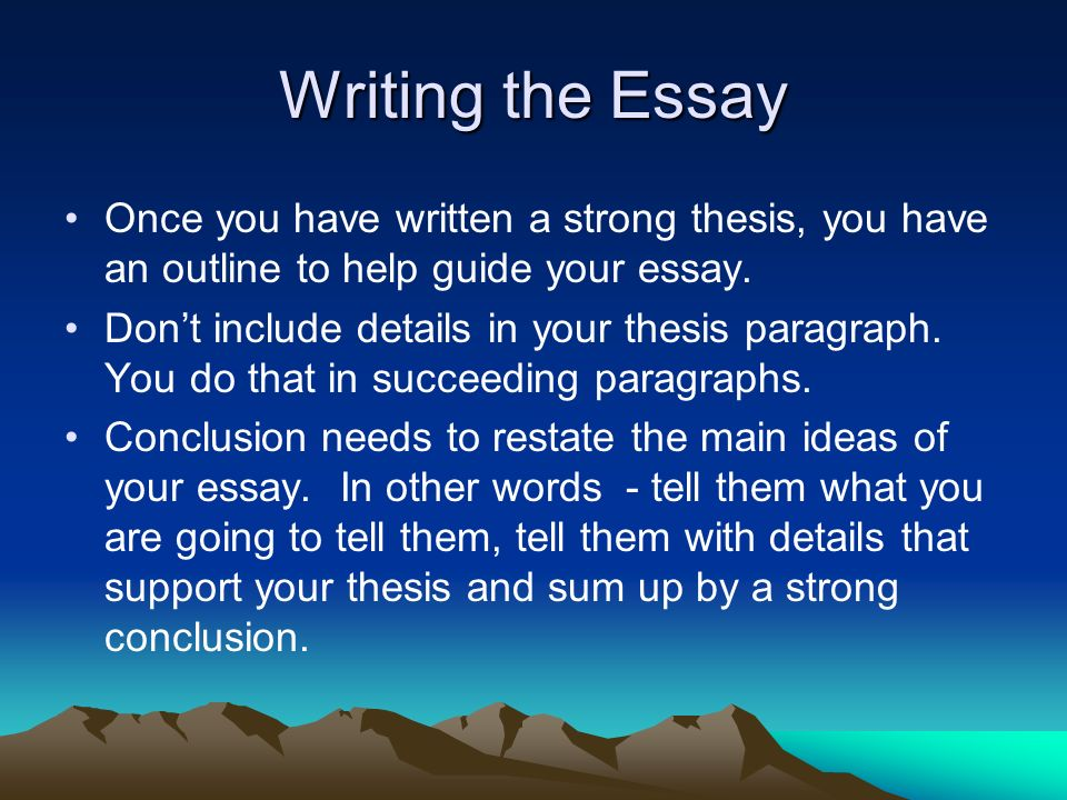 Need pointers on a grade 12 essay thesis statement.?