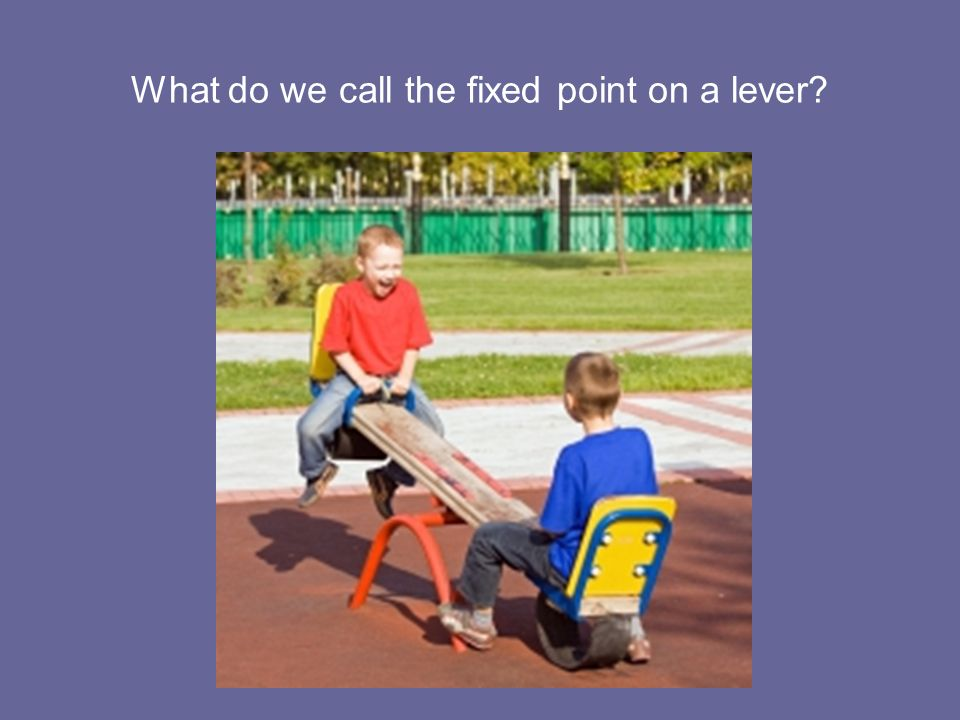 What do we call the fixed point on a lever?