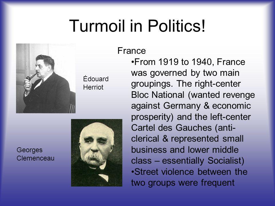 Turmoil in Politics.