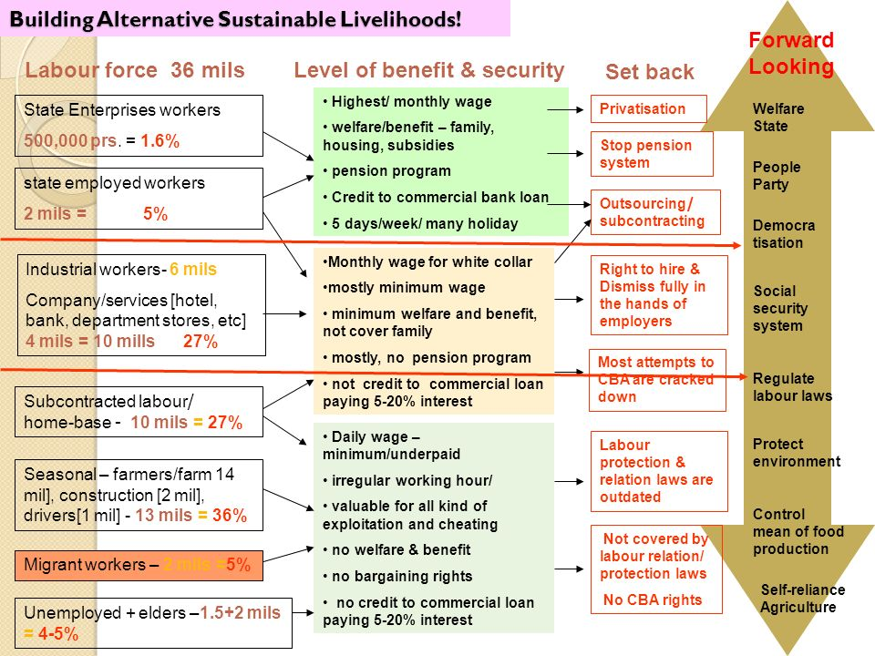 Building Alternative Sustainable Livelihoods.