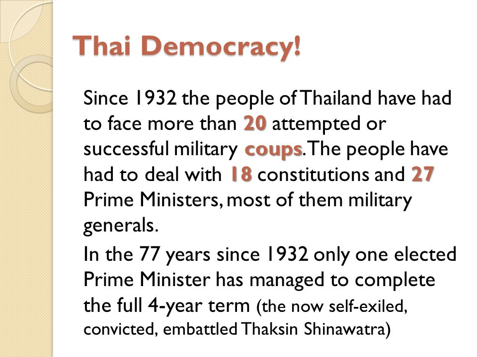 Thai Democracy.