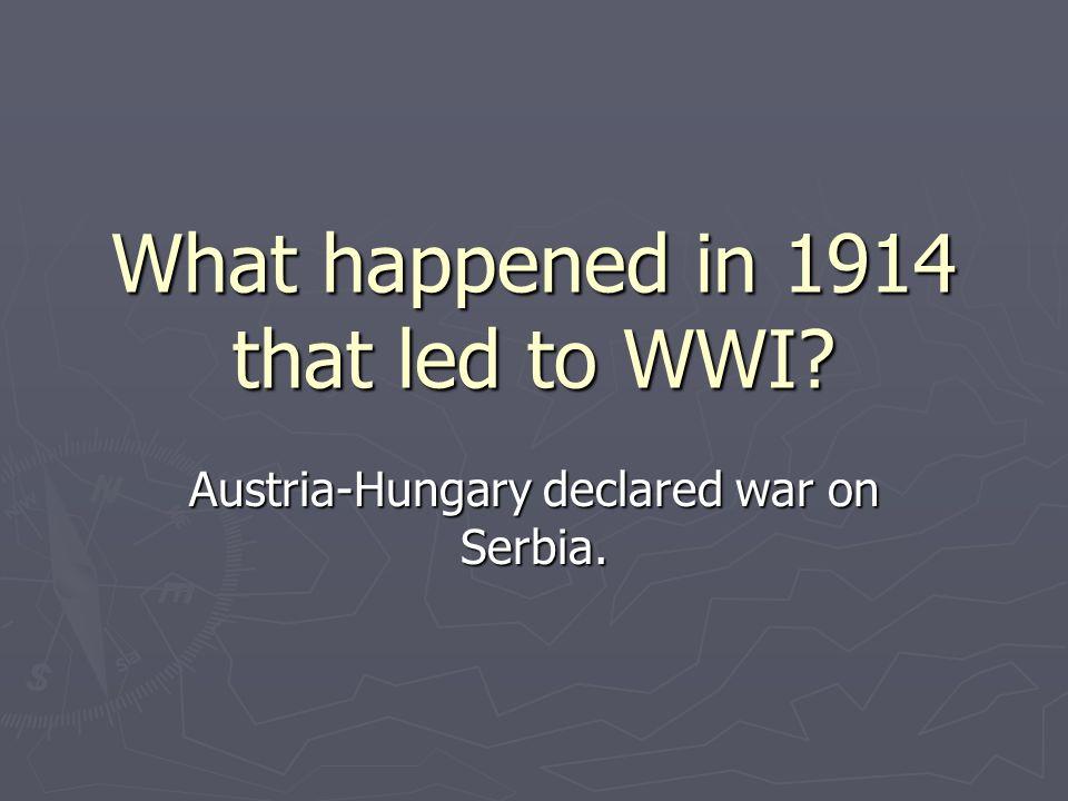 Austria-Hungary declared war on Serbia.