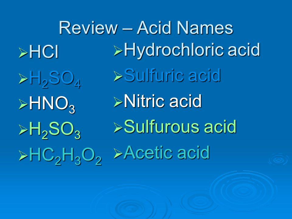 Chapter 23 Acids, Bases & Salts