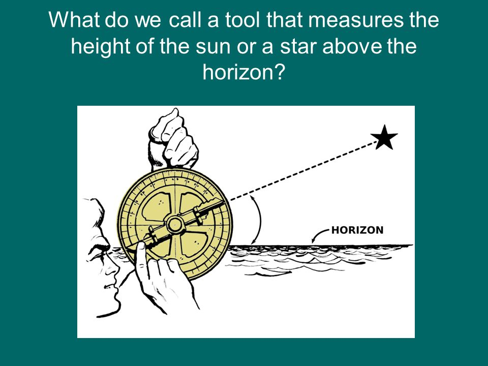 What do we call a tool that measures the height of the sun or a star above the horizon