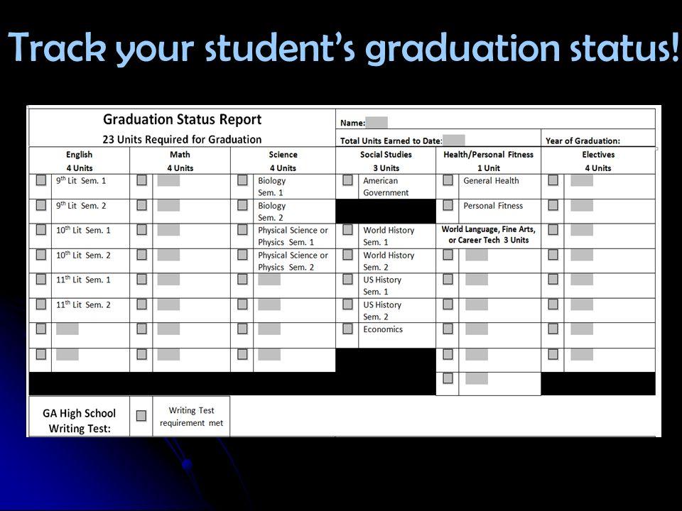 Track your students graduation status!