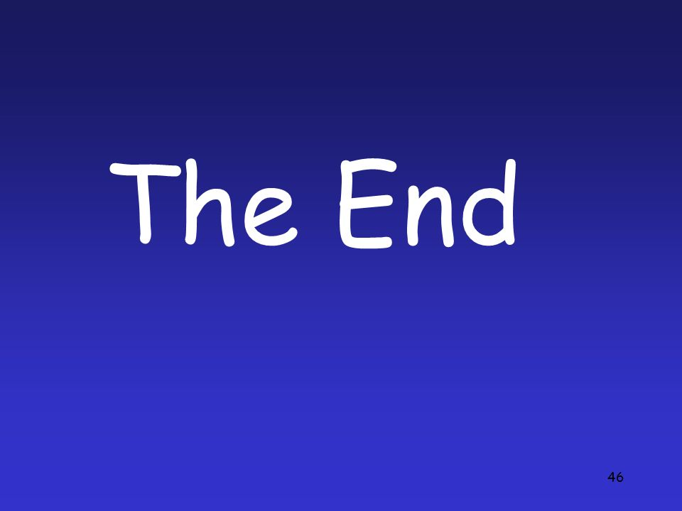 46 The End