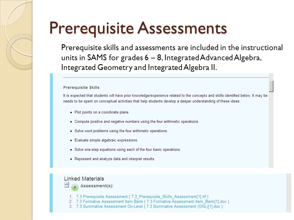 Remediation Plan Resources SAMS Prerequisite Skills Repository (Work in Progress) Connections teacher ASP Binders (Grades 6 – 8) GAVS (Georgia Virtual School) Online Resources
