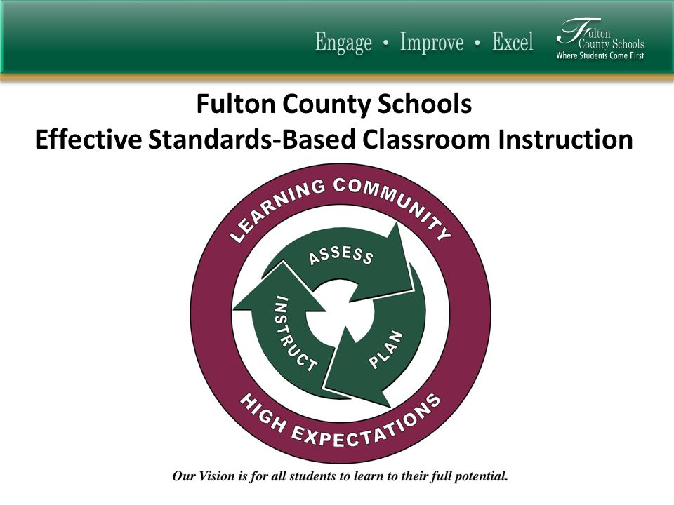 Fulton County Schools Effective Standards-Based Classroom Instruction