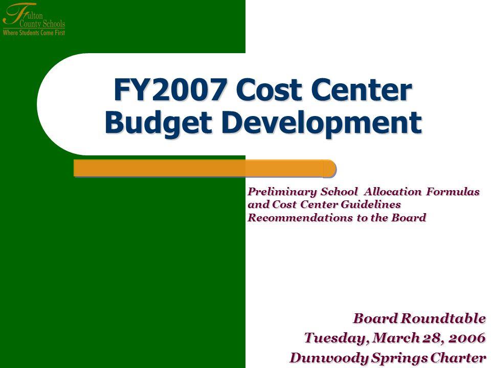 General Fund Slide 2 Agenda Purpose Purpose FY2007 Budget Development FY2007 Budget Development Cost Center Resource Allocations Cost Center Resource Allocations I.