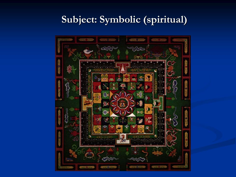 Subject: Symbolic (spiritual)